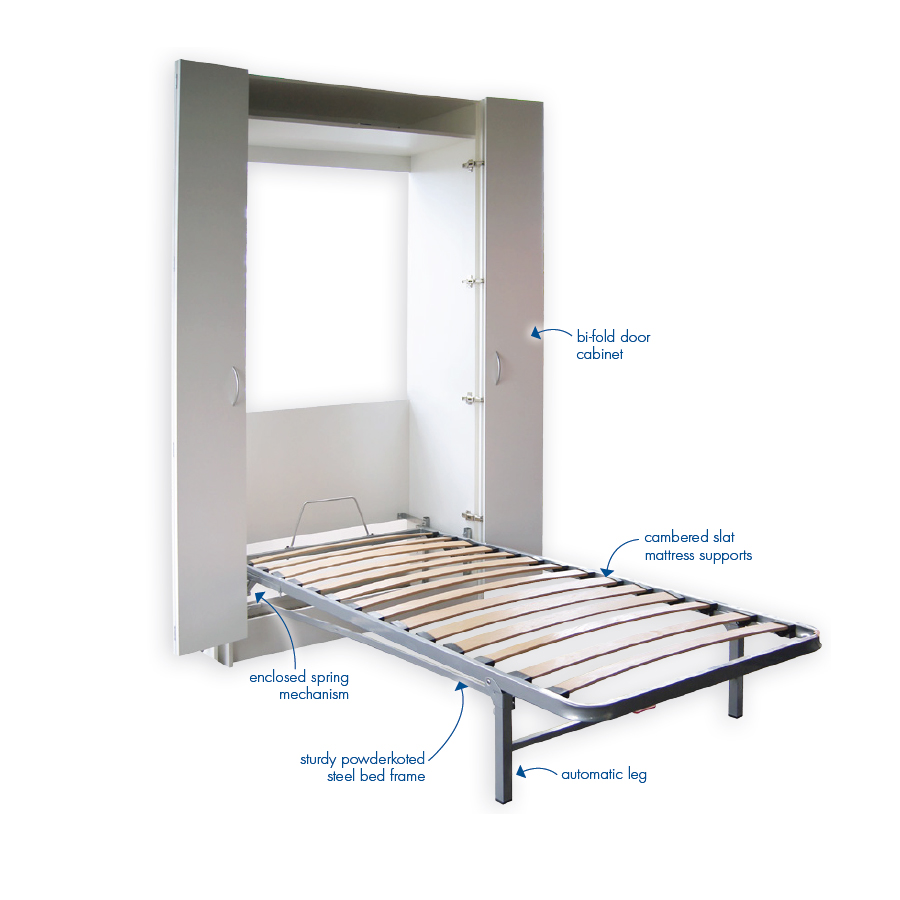 Diy Wall Bed Kit Bi Fold Door Cabinet Pardo